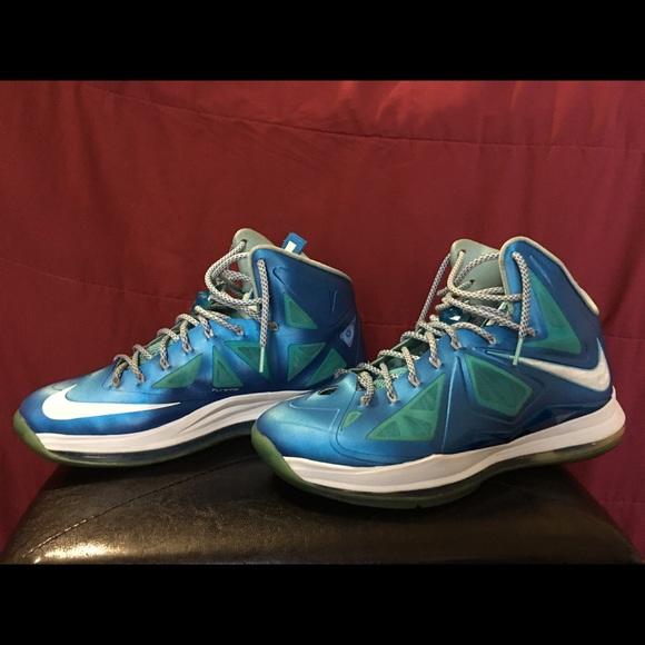 "best service 95ceb 0d51c Nike LeBron X (10) ""Blue Diamond"" Men s Sz 12. M 5b7f37d7c2e88e8a3288c2e3"